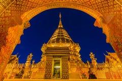 Tempio di Wat Phra That Doi Suthep in Chiang Mai, Tailandia Immagini Stock