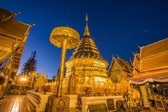 Tempio di Wat Phra That Doi Suthep in Chiang Mai, Tailandia Immagini Stock Libere da Diritti