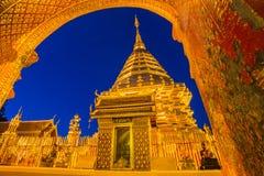 Tempio di Wat Phra That Doi Suthep, Chiang Mai, Tailandia Immagini Stock