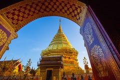 Tempio di Wat Phra That Doi Suthep, Chiang Mai, Tailandia Immagine Stock Libera da Diritti