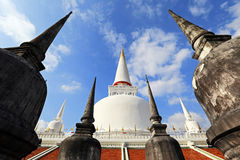 Tempio di Wat Phra Mahathat, Nakhon Si Thammarat, Tailandia Immagini Stock Libere da Diritti