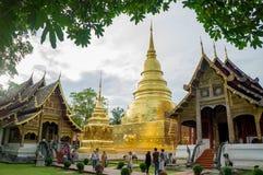 Tempio di Wat Phra Singh fotografia stock