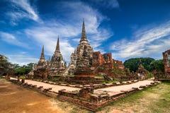 Tempio di Wat Phra Sri Sanphet. Ayutthaya, Tailandia Immagine Stock Libera da Diritti
