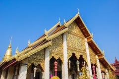 Tempio di Wat Phrathat Hariphunchai, Lamphun, Tailandia. fotografia stock libera da diritti