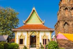Tempio di Wat Phrathat Hariphunchai, Lamphun, Tailandia. fotografia stock