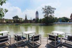 Tempio di Wat Phutthaisawan di bella vista a Ayutthaya Tailandia Fotografia Stock Libera da Diritti