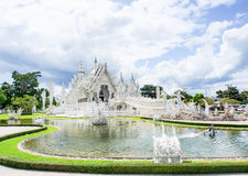 Tempio di Wat Rong Khun in Chiangrai, Tailandia 3 Fotografie Stock Libere da Diritti