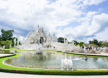 Tempio di Wat Rong Khun in Chiangrai, Tailandia 1 Fotografie Stock Libere da Diritti