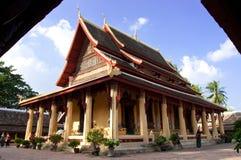 Tempio di Wat Sisaket a Vientiane Fotografia Stock Libera da Diritti