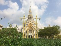 Tempio di Wat Sothon Wararam Worawihan Buddhist immagini stock libere da diritti