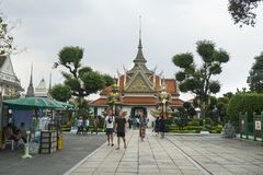 Tempio di Wat Suthat in Bagkok immagini stock