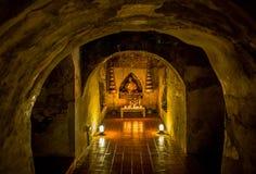 Tempio di Wat Umong Suan Puthatham in Chiang Mai, Tailandia Immagini Stock Libere da Diritti