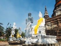 Tempio di Wat Yai Chaimongkol a ayutthaya fotografia stock libera da diritti