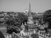 Tempio di Wat Yai Chaimongkol a ayutthaya immagini stock libere da diritti