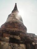 Tempio di Wat Yai Chaimongkol a ayutthaya fotografia stock