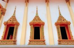 Tempio dorato della finestra Fotografie Stock Libere da Diritti