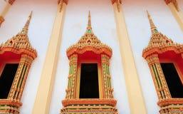 Tempio dorato della finestra Fotografia Stock Libera da Diritti