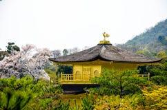 Tempio dorato di Kinkakuji del padiglione al Giappone Immagine Stock