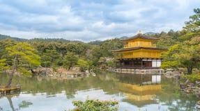 Tempio dorato di Pavillion Kinkakuji in Kyoyo Immagini Stock Libere da Diritti