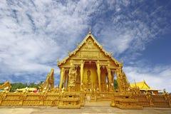 Tempio dorato di Wat Pak Nam Fotografie Stock