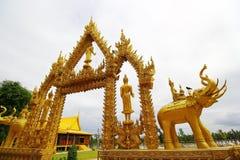 Tempio dorato di Wat Pak Nam Immagine Stock Libera da Diritti