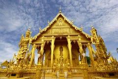 Tempio dorato di Wat Pak Nam Immagini Stock Libere da Diritti