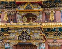 Tempio dorato di Zangdog Palri del monastero buddista di Namdroling, Co Fotografia Stock Libera da Diritti