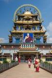 Tempio dorato di Zangdog Parli del monastero buddista di Namdroling, Co Fotografia Stock