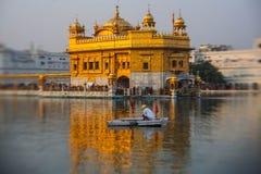 Tempio dorato Sri Harmandir Sahib Gurdwara a Amritsar Fotografia Stock Libera da Diritti