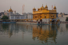 Tempio dorato Sri Harmandir Sahib Gurdwara a Amritsar Immagine Stock Libera da Diritti