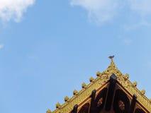 tempio e cielo superiori del tetto Immagine Stock Libera da Diritti