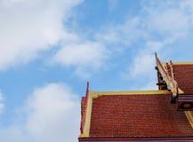 tempio e cielo superiori del tetto Fotografia Stock Libera da Diritti