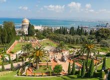 Tempio e giardini di Bahai a Haifa, Israele Immagine Stock Libera da Diritti