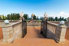 Tempio e giardini di Bahai a Haifa, Israele Immagine Stock