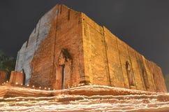 Tempio e luce della candela Fotografia Stock