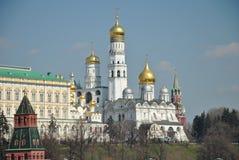 Tempio e palazzo di Mosca Kremlin Fotografia Stock Libera da Diritti