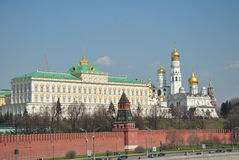 Tempio e palazzo di Mosca Kremlin Immagine Stock Libera da Diritti