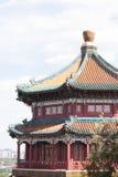 Tempio e punto di vista del cinese tradizionale Fotografie Stock Libere da Diritti