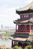 Tempio e punto di vista del cinese tradizionale Immagine Stock Libera da Diritti