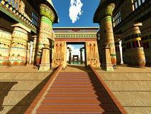 Tempio egiziano Fotografia Stock Libera da Diritti