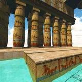 Tempio egiziano Immagini Stock Libere da Diritti