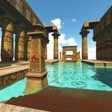 Tempio egiziano Immagini Stock