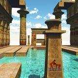 Tempio egiziano Fotografia Stock