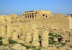 Tempio egiziano antico al dendera Fotografia Stock