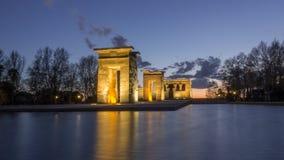 Tempio egiziano del tempio di Debod a Madrid, Spagna Fotografia Stock