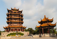 Tempio giallo di Crane Tower in Cina Fotografie Stock Libere da Diritti