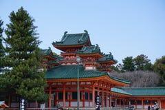 Tempio giapponese Heian-jingu, Kyoto, Giappone Fotografia Stock