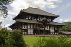Tempio grande orientale Todai-ji - Nara, Giappone immagine stock libera da diritti