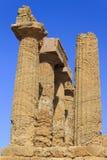 Tempio greco di Juno Agrigento - in Sicilia, Italia Fotografia Stock