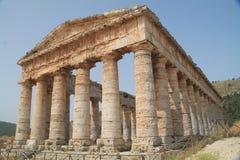 Tempio greco di Segesta Fotografia Stock Libera da Diritti